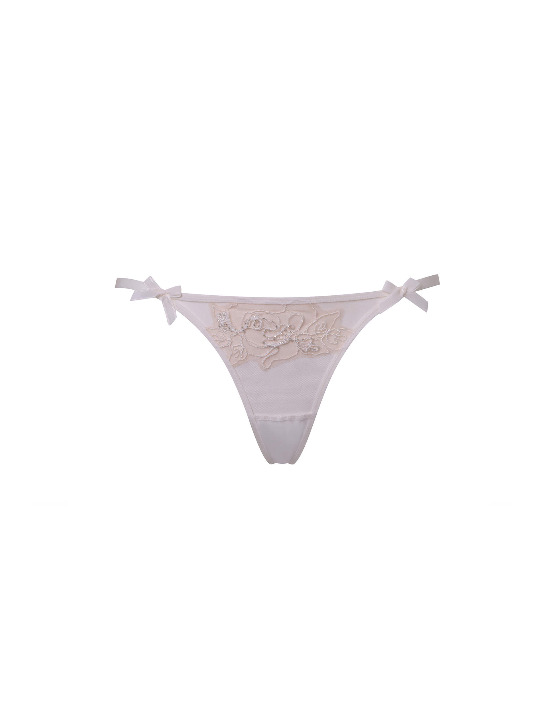 Agent Provocateur Lindie Thong In Nude With Ivory Tattoo Effect Motif
