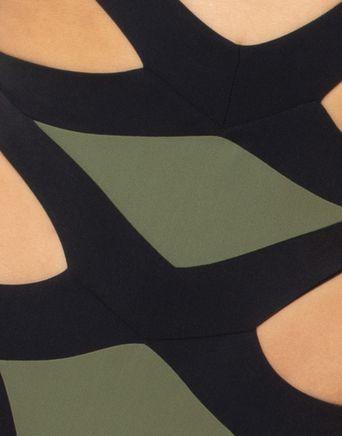 Mazzy Bikini-Agent Provocateur kaki pour femme noire BNWT-Tailles Diverses